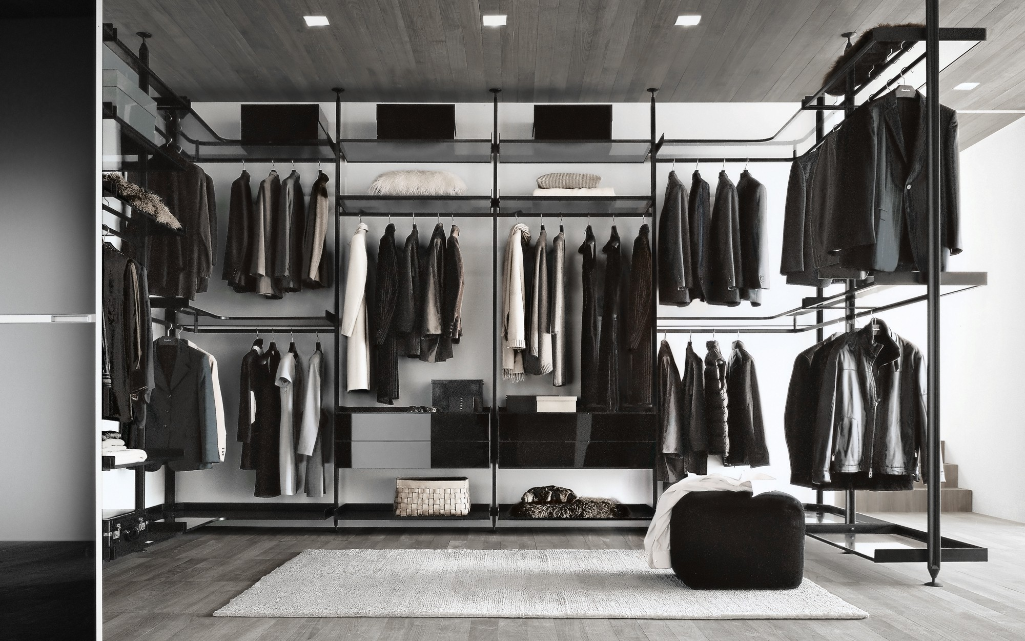 zenit by rimadesio walk in wardrobes store campbell watson. Black Bedroom Furniture Sets. Home Design Ideas